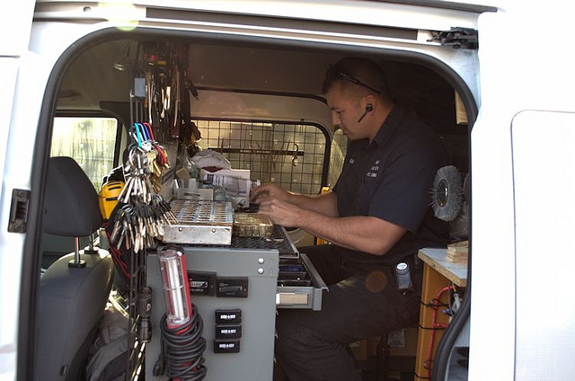 locksmith inside truck